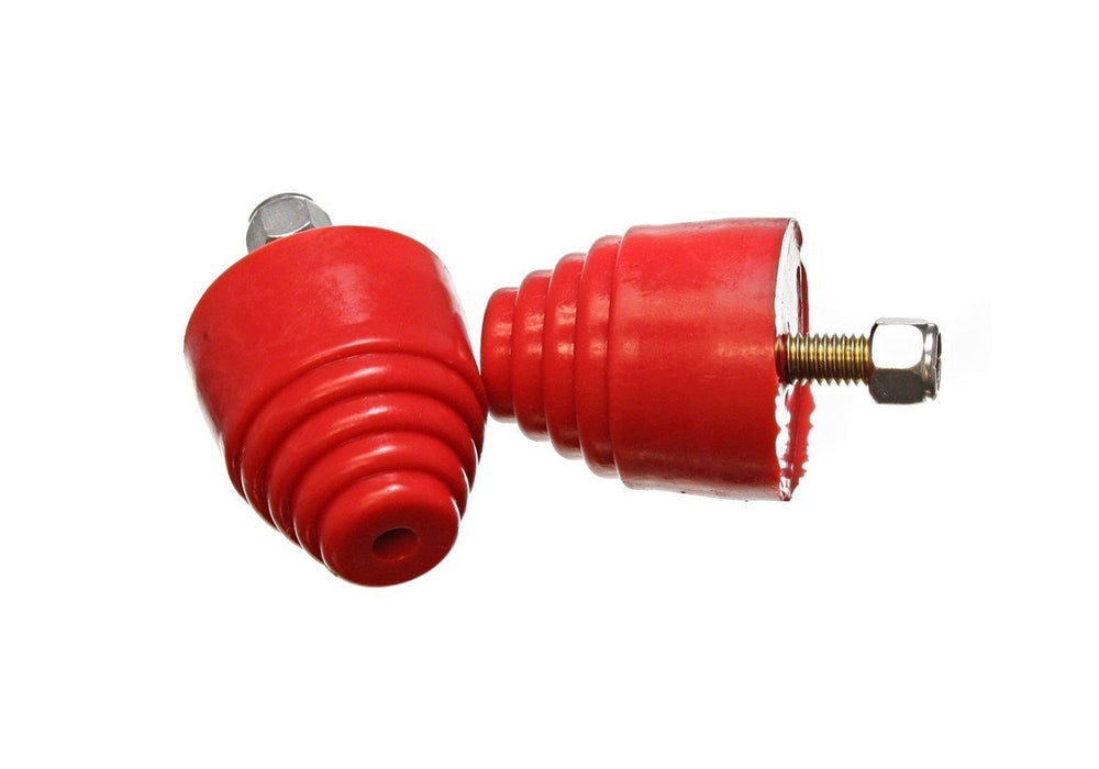 Energy Suspension 9.9101R Set of Two Red Poly Universal Bump Stops