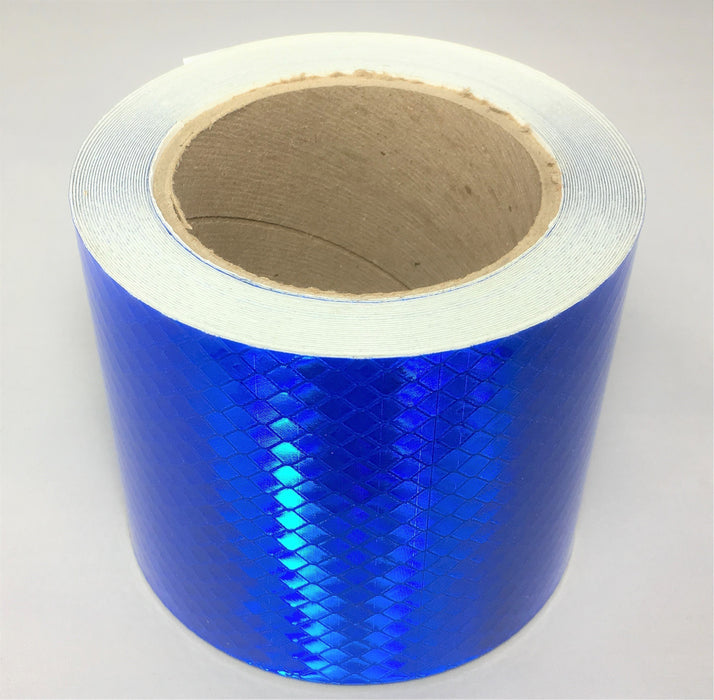 "3M 4"" x 30' Roll Blue Reflective Tape 973-75 Series"