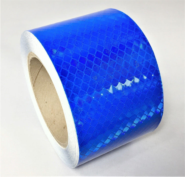 "Orafol 3"" x 150' Roll Blue Reflective Tape 5900 Series - Made in the USA"