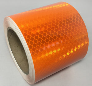 "3M 4"" x 30' Roll Orange Reflective Tape 973-74 Series"