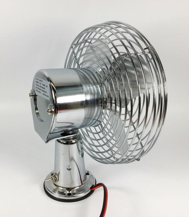 "MVP 12 Volt All Metal Dash Fan 6"" Dia. Blade - PF12M"