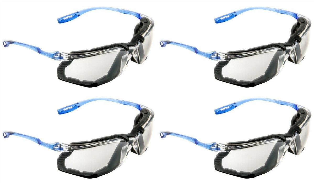 3M Virtua CCS Safety Glasses 4Pr 11872-00000-20 Foam Gasket Clear Anti Fog Lens