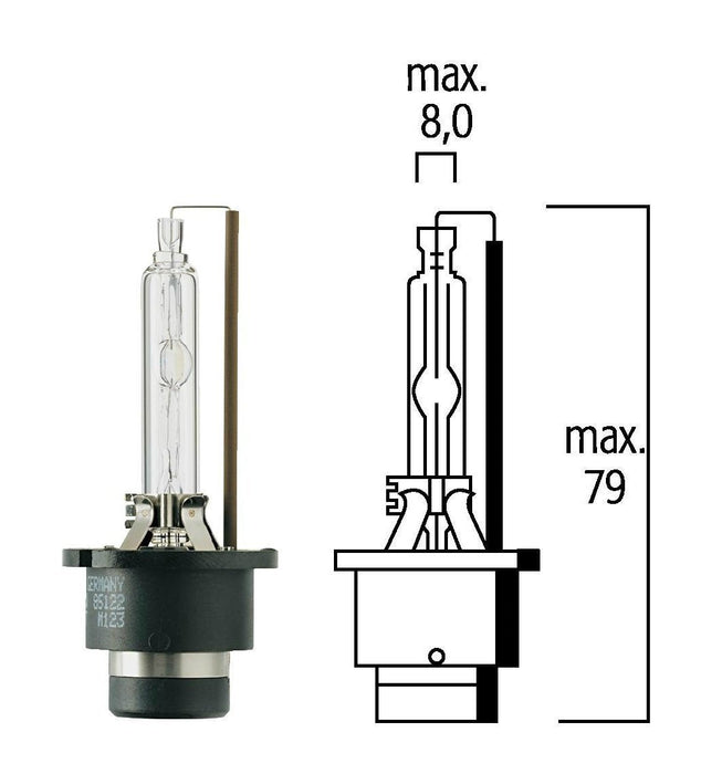 Flosser 85422 85V/35W D2S 4200°K HID Xenon Head Light Bulb - Made in Germany
