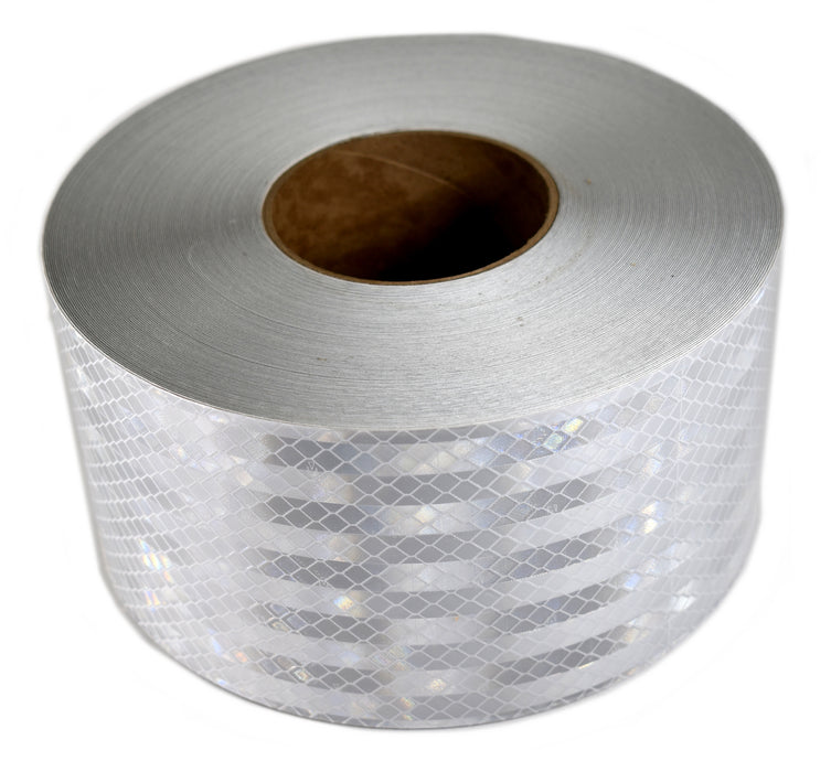 "3M 57022 4"" x 150' Roll of 3310M White High Intensity Grade Reflective Tape"
