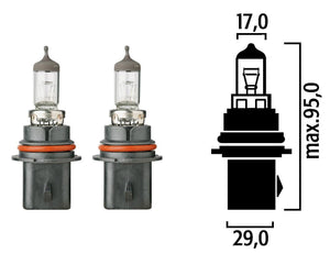 Flosser Halogen Bulb HB1 (9004) 12V 65/45W - Two Bulbs