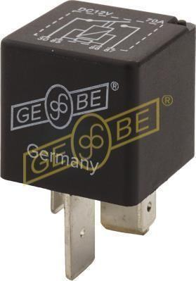 GEBE 990851 4 Terminal Heavy Duty SPST NO Relay Resistor 12V 70A - German Made