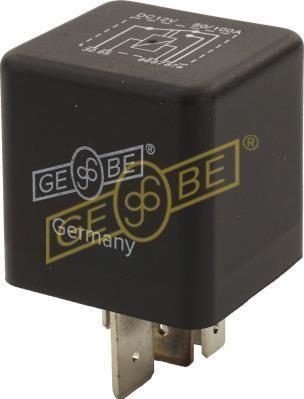 GEBE 990911 5 Terminal Heavy Duty Changeover Relay 12V 80/100A - Made in Germany