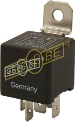GEBE 993071 Mini Relay 5 Terminal SPDT 12V 40/30A with Resistor Made in Germany