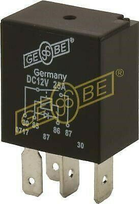 GEBE 990541 4 Terminal Sealed SPST NO Micro Relay Diode 12V 25A Made in Germany