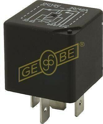 GEBE 990611 5 Terminal Changeover Mini Relay Resistor 12V 30/40A - German Made