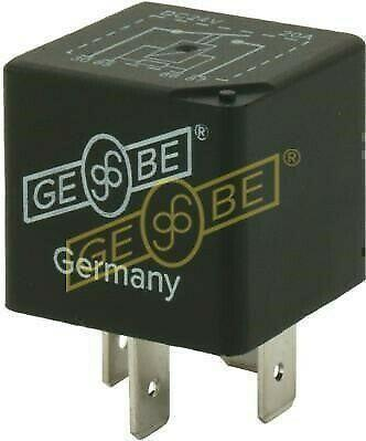 GEBE 990711 4 Terminal SPST NO Mini Relay with Resistor 24V 20A - German Made