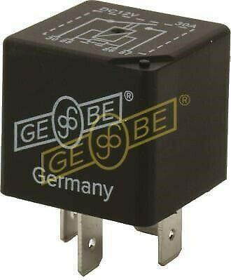 GEBE 993041 Mini Relay 4 Terminal SPST NO 12V 40A with Resistor Made in Germany