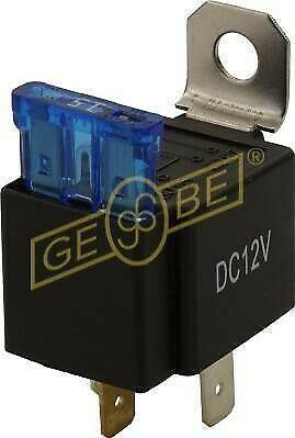GEBE 994821 4 Terminal SPST Relay 12V with 30 Amp Fuse - Made in Germany