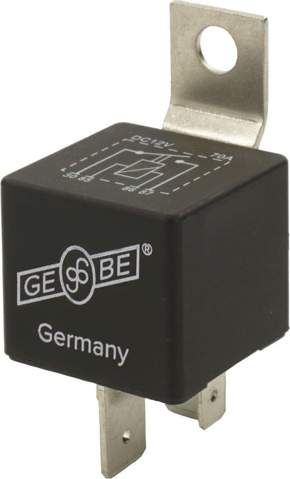 GEBE 990111 Heavy Duty Relay 12V 70 Amps 4 Terminal NO SPST Made in Germany