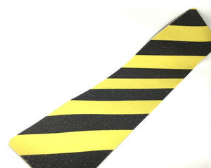 "MVP 5 pcs High Quality 46 Grit Anti-Slip Grip Tape 6"" x 24"" Black and Yellow USA"