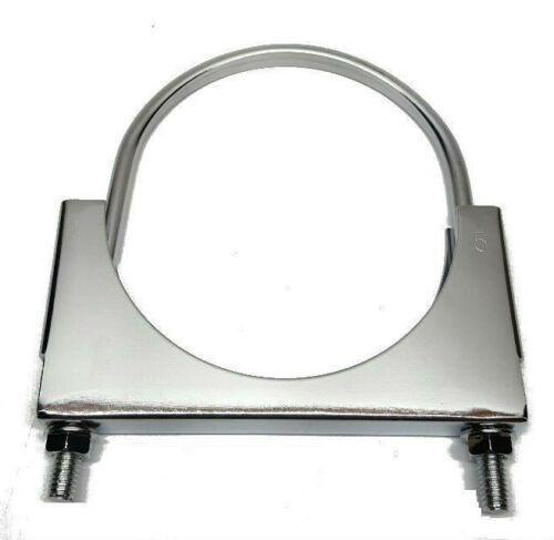 "MVP 4"" Exhaust Pipe Clamp w/ Flat U Bolt - Chrome Plated - JSF40CR"