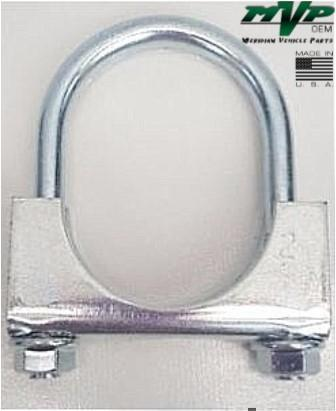 "MVP 2"" Saddle Type Round U-Bolt Exhaust Clamp - Zinc Plated - JSR20ZN"