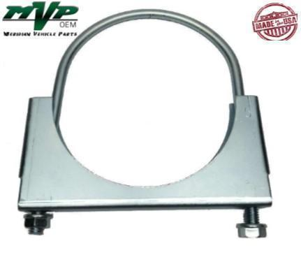 "MVP 3-1/2"" Saddled Type Round U-Bolt Exhaust Clamp - Zinc Plated - JSR35ZN"