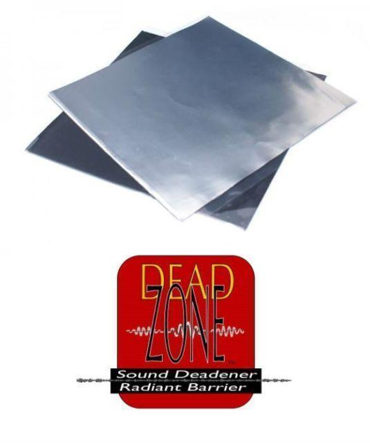 Dead Zone 5 Sheets Sound Deadening 50cmX70cm Alum Foil Wrap Butyl Rubber 50 Mil