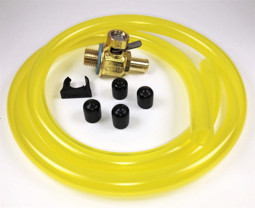 Fumoto F111N Oil Drain Valve with HD Pro 3' Hose Kit for Fumoto Long Nipple