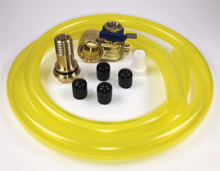 Fumoto F106SX Oil Drain Valve with HD Professional 3' Hose Kit for Fumoto S & SX Nipple