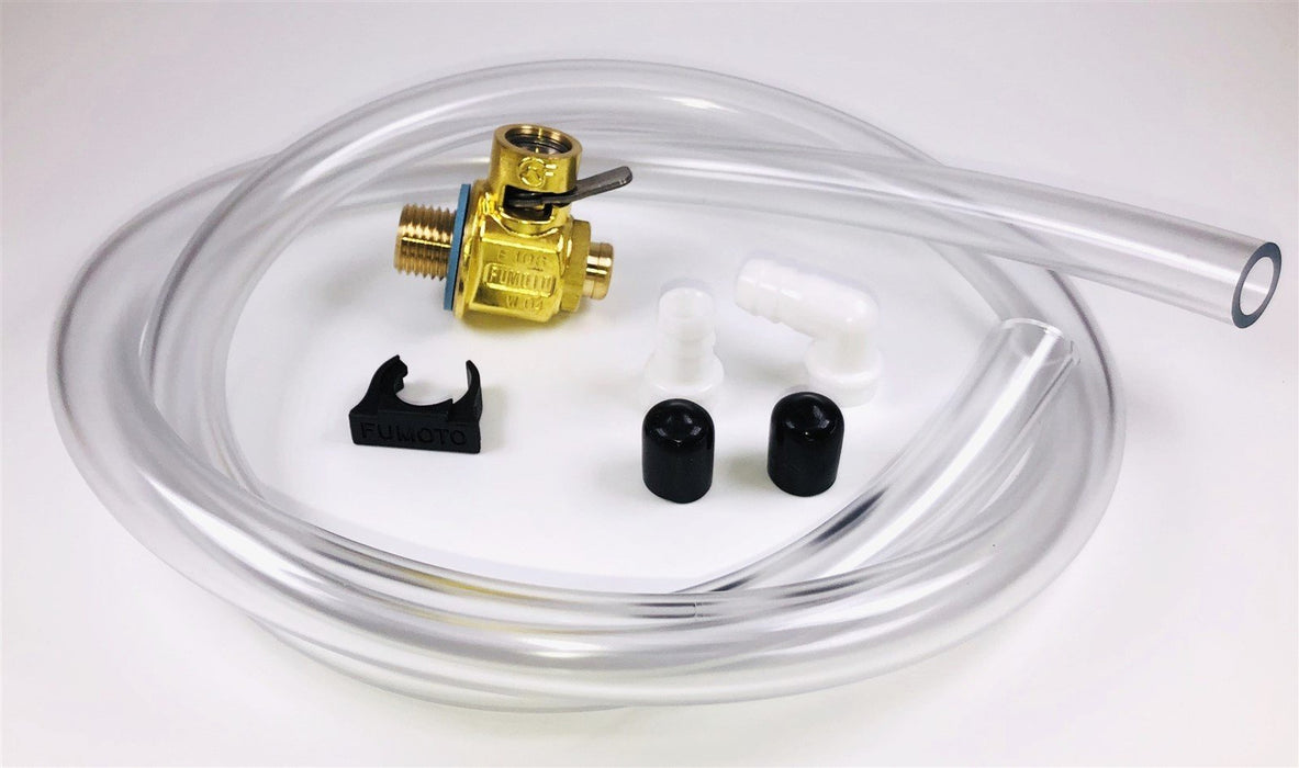 Fumoto F104S Oil Drain Valve with Heavy Duty 3' Hose Kit for Fumoto S & SX Nipple