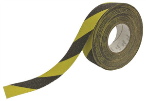 "MVP High Quality 46 Grit Anti-Slip Grip Tape 4"" x 60' Black & Yellow Made in USA"