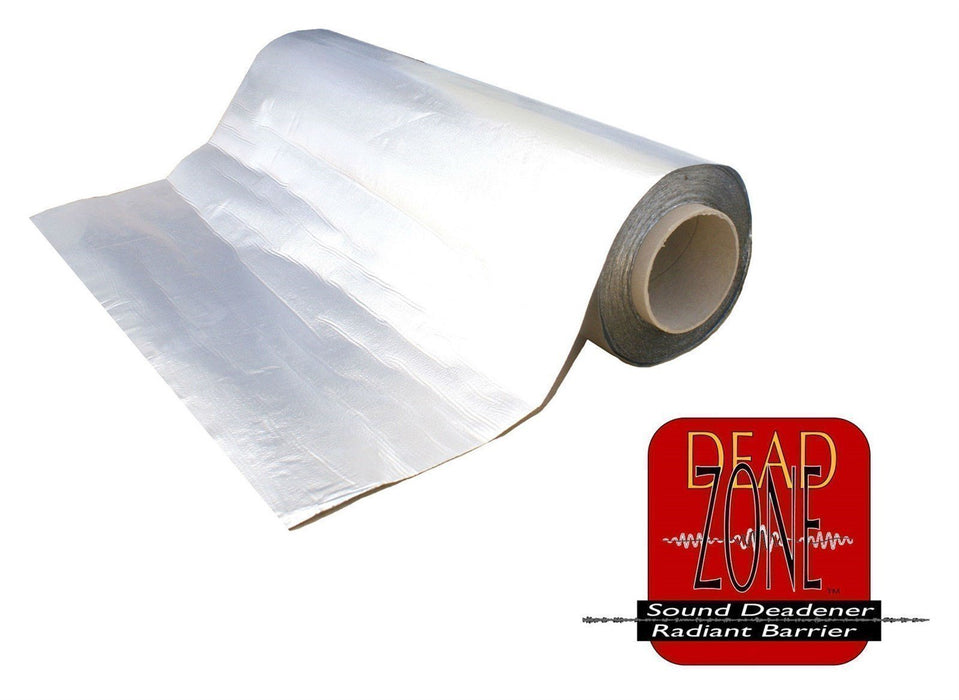 "Dead Zone 18""x33' Roll Sound Deadening Alum Foil Wrap Butyl Rubber Backed 80 mil"