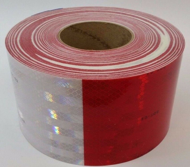 "3M 67825 4"" x 150' 983 Series 11"" Red 7"" White Conspicuity Reflective Tape"