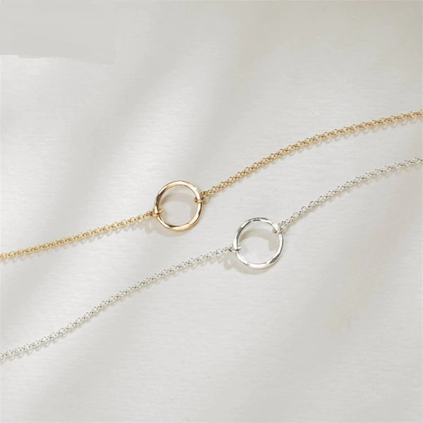 Dainty Hollow Circle Necklace
