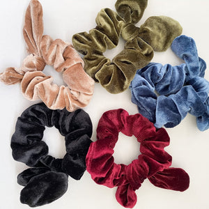 Velvet Scrunchies with Tie