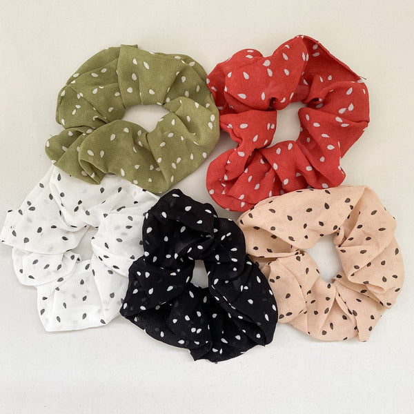 Polka Dot Scrunchies