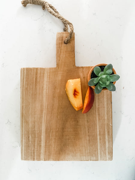 Natural Cutting Board with Jute Tie