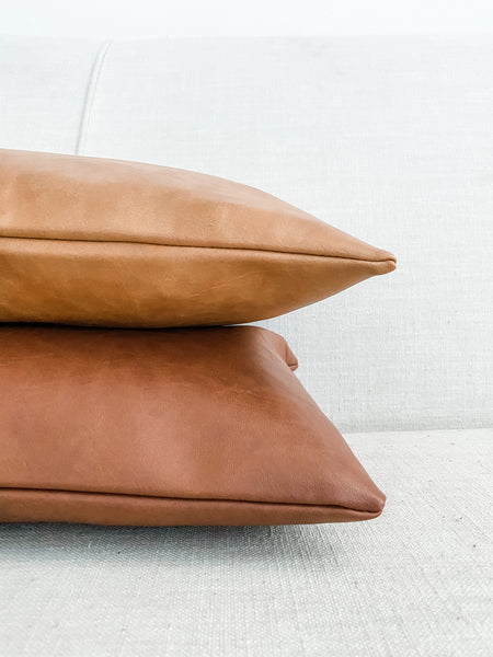 Faux Leather Pillow Covers