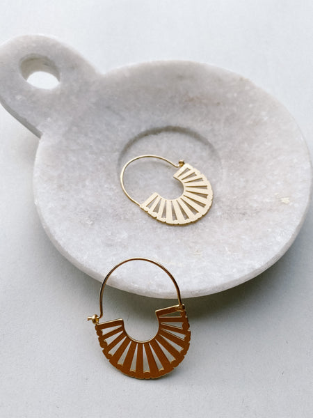 Sun Rays Dangle Earrings