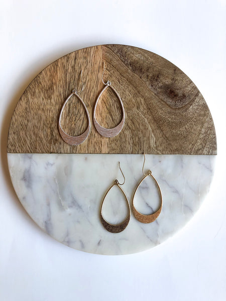Distressed Drop Earrings