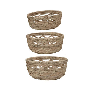 Handwoven Grass Baskets | Set of 3