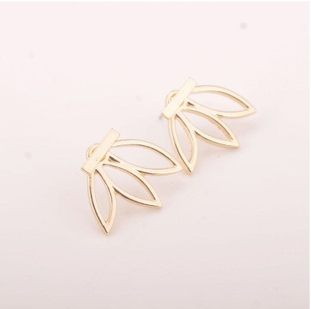 Lotus Bar Stud Earrings