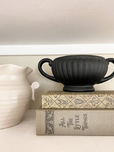 FOUND Fluted Stoneware Pot | Black