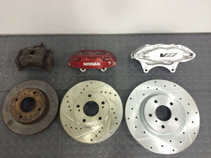 240SX S13 4 Piston CTS-V Big Brake Caliper Bracket Kit