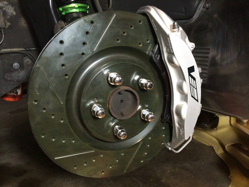 300zx Big Brake Kit Bracket Z32 CTSV CTS-V 6 Piston Calipers Nissan