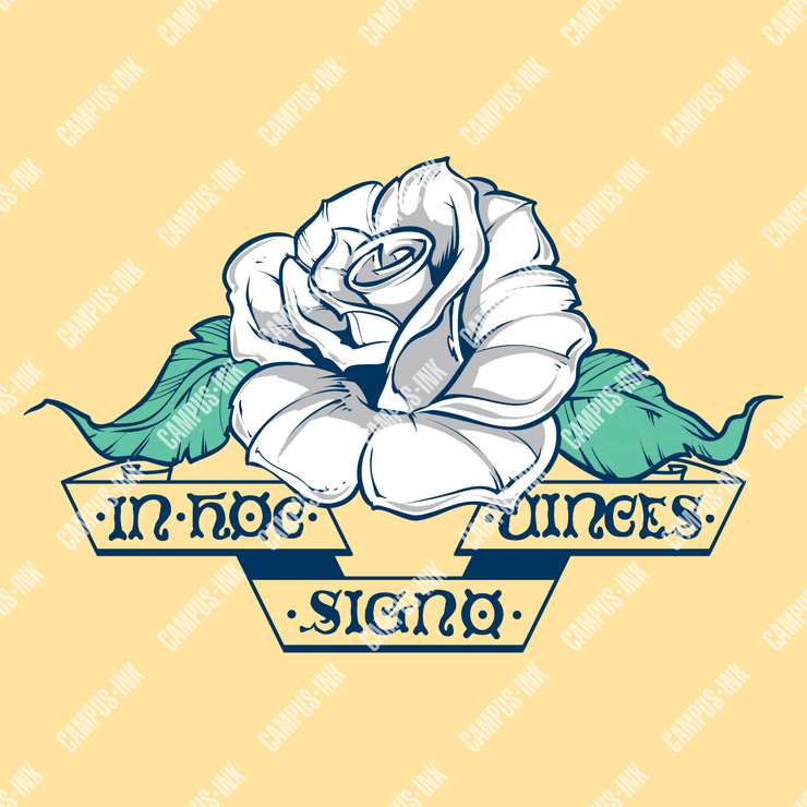 Sigma Chi White Rose Design - Sigma Chi Fraternity
