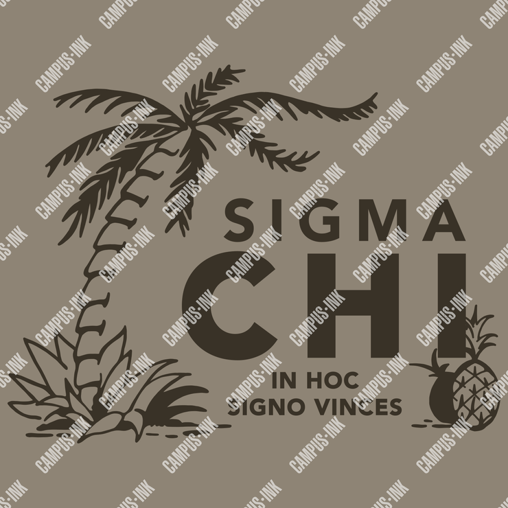 Sigma Chi Palm & Pineapple Design - Sigma Chi Fraternity