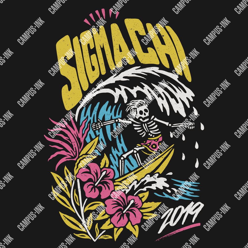 Sigma Chi Surfing Skeleton Design - Sigma Chi Fraternity