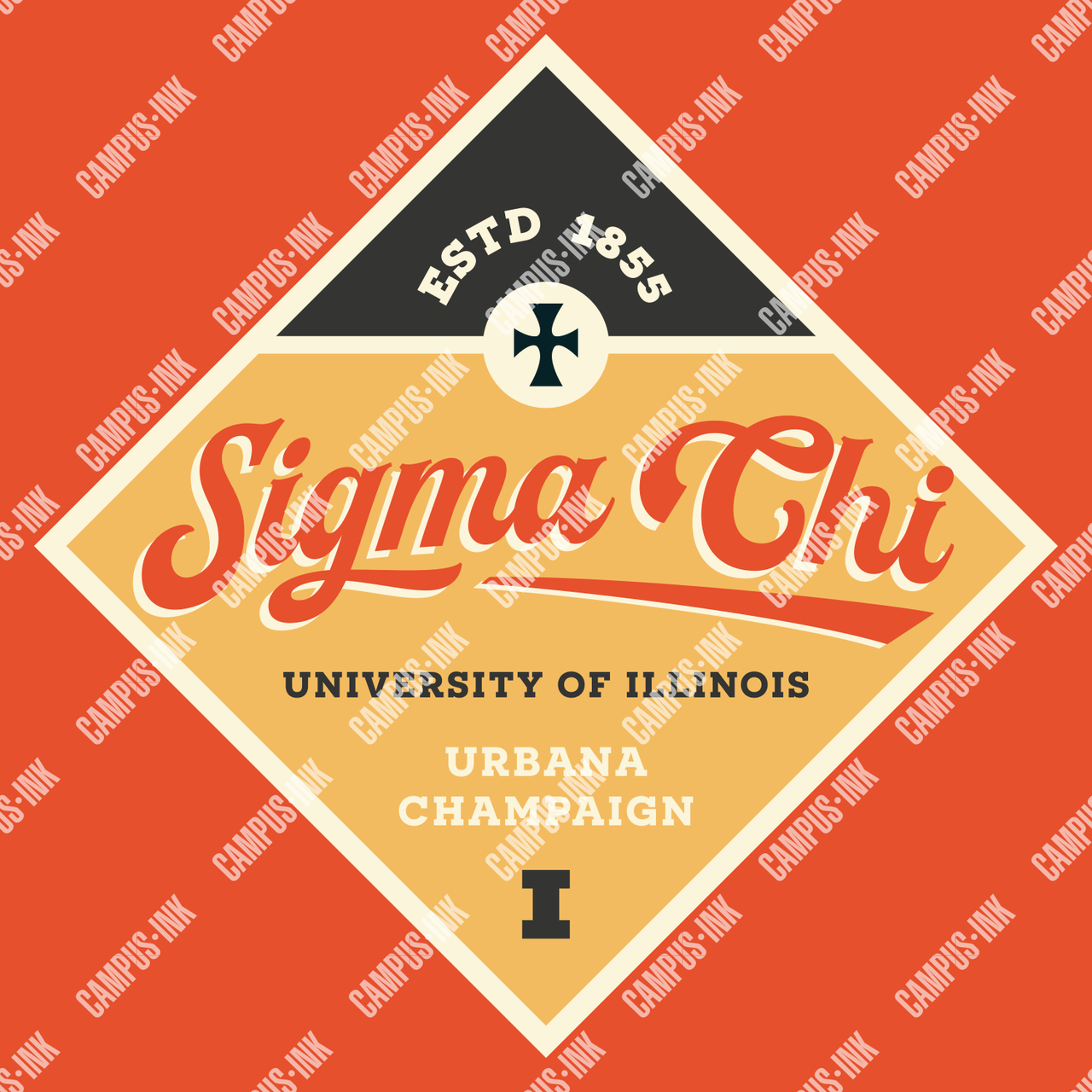 Sigma Chi One Diamond Print Design - Sigma Chi Fraternity