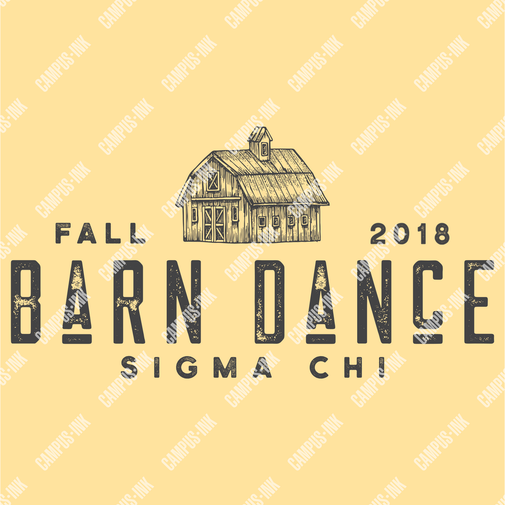 Sigma Chi Barn Text Design - Sigma Chi Fraternity