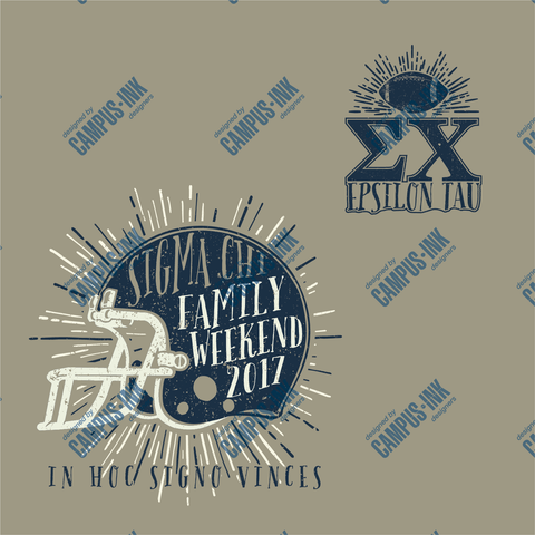 Sigma Chi Football Family Weekend Design - Sigma Chi Fraternity