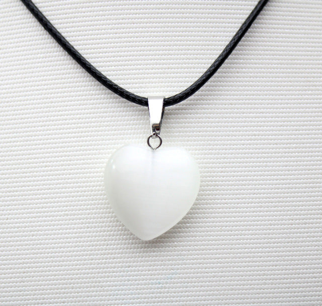 wholesale 20mm natural stone heart pendant quartz crystal agates turquoises malachite stone for Jewelry making Necklace pendant - Resonate Crystal