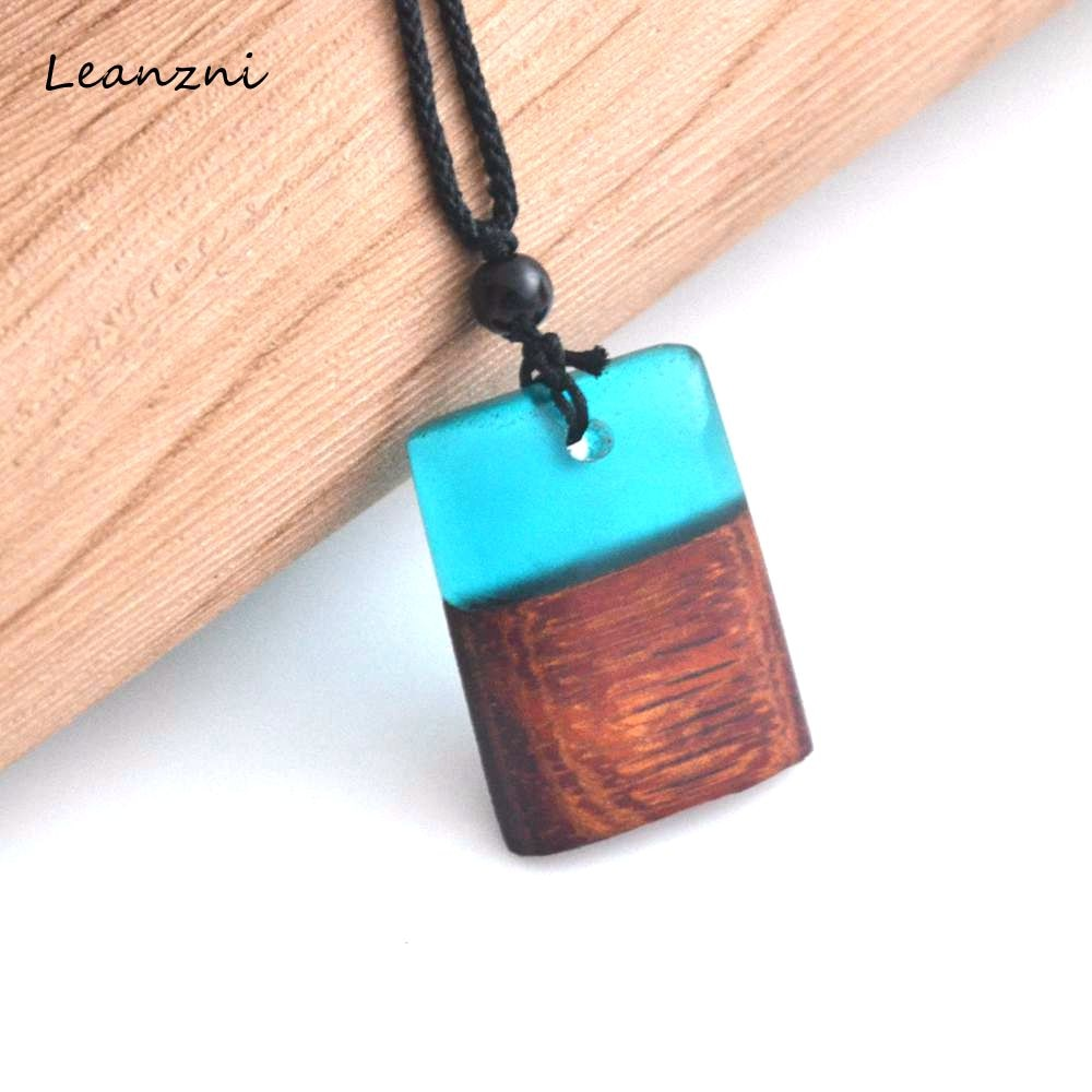 Leanzni Professional vintage wood craft fashion gift company wholesale jewelry necklace & pendant - Resonate Crystal