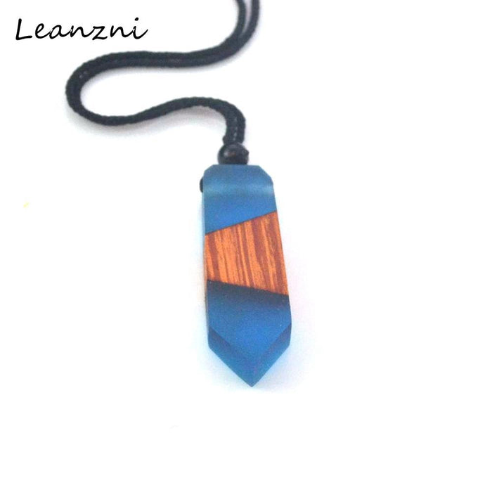 Leanzni  Fashion wood resin necklace pendant, retro jewelry, gift for men and women, wholesale